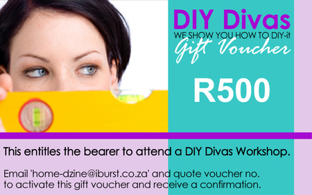 DIY Divas Gift Voucher to attend a DIY or furniture making workshop